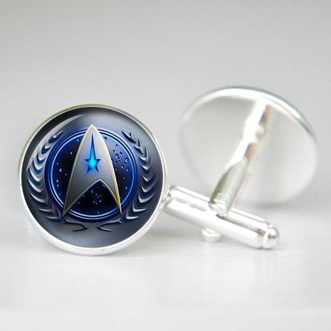 Star Trek Cufflinks Starfleet Star Trek Jewelry Captain Kirk Birthday Gift